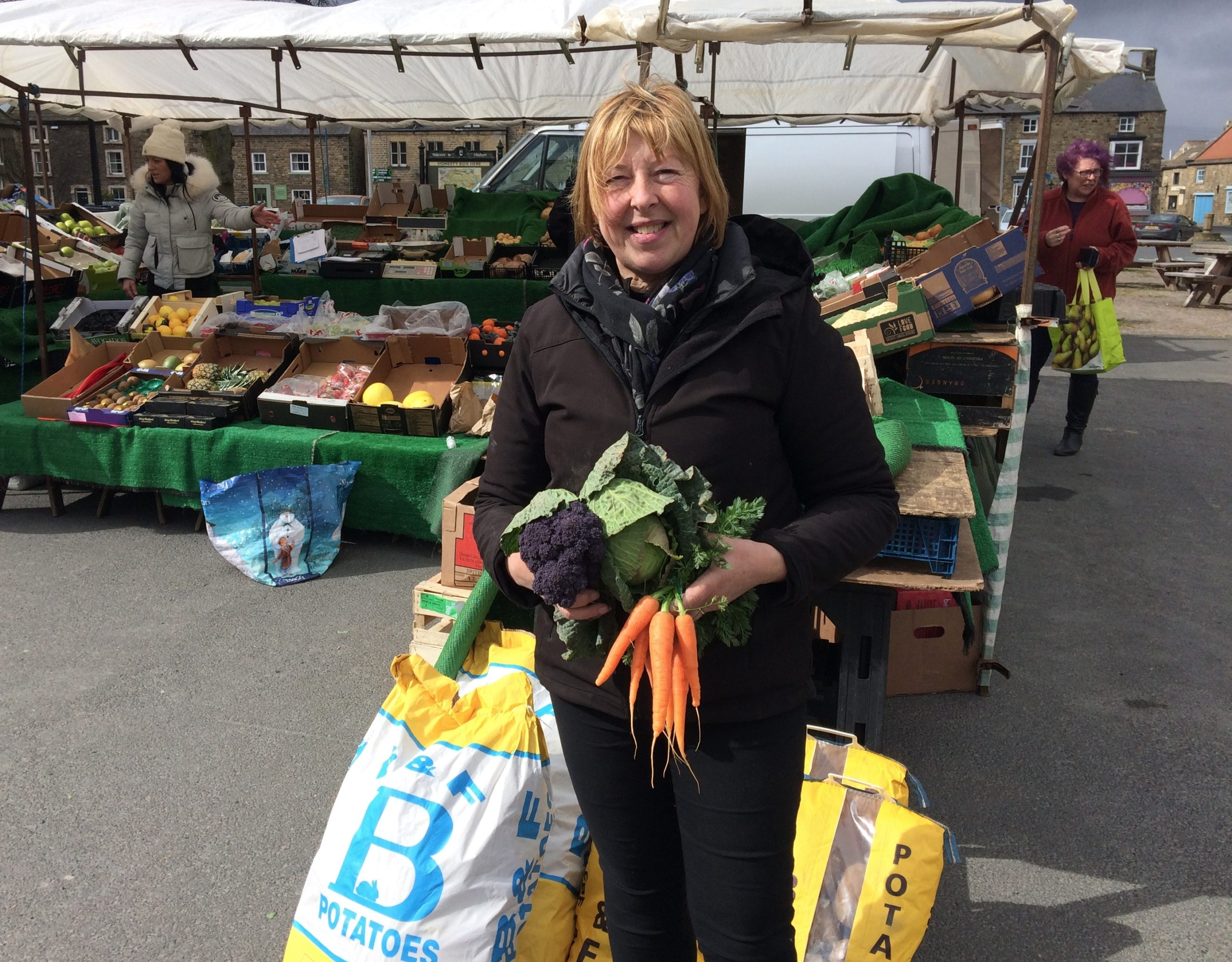 Masham stallholders plead with local people to support the town