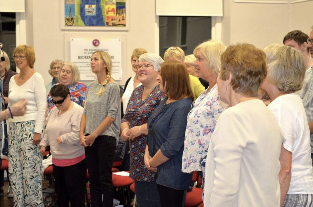 The Knaresborough choir rely on fundraising to put on their performances and continue rehearsing, grants allow them to continue during the pandemic.