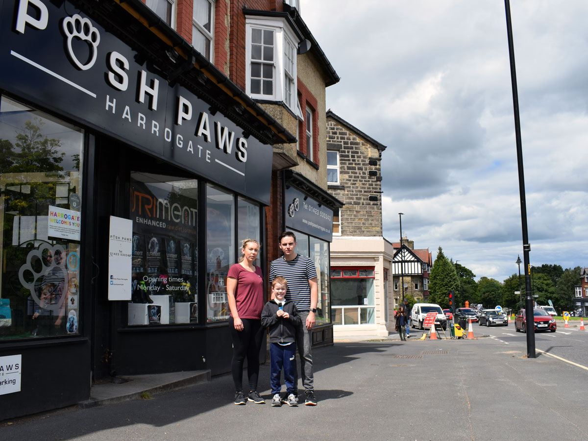 Harrogate shops 'heartbroken' about Leeds Road roadworks