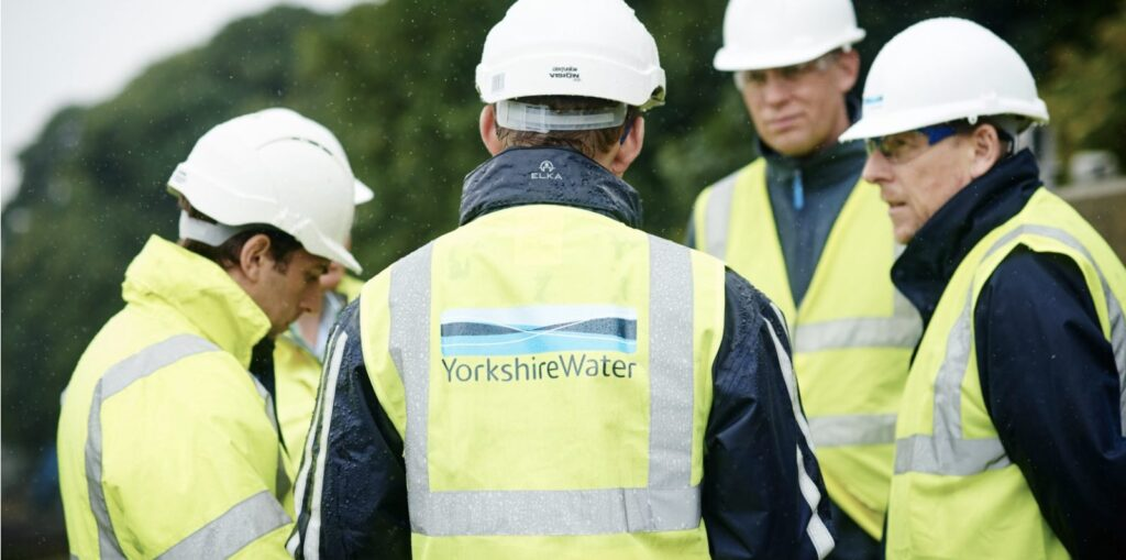 A group of workmen from Yorkshire Water