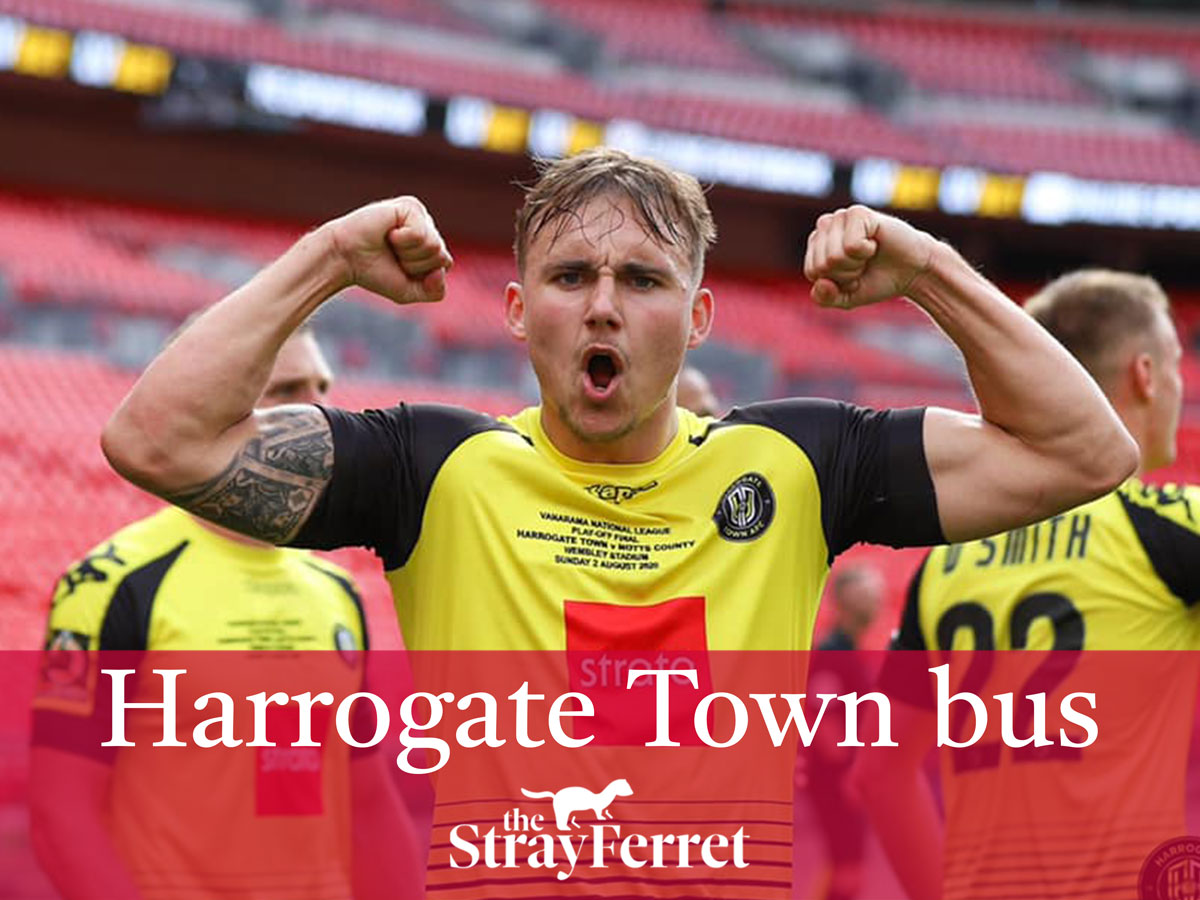 Harrogate Town open top bus tour route this weekend