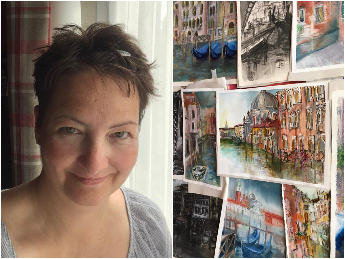 Terminal cancer diagnosis inspires Harrogate art teacher