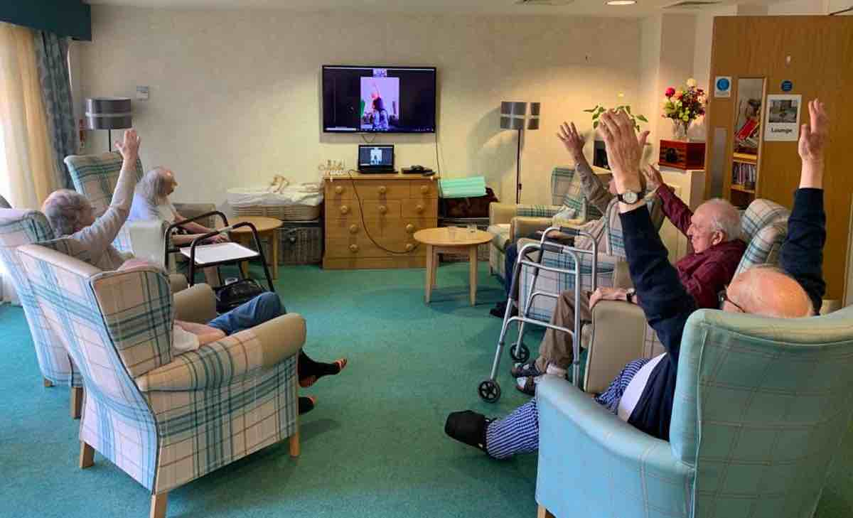 Care home residents see health benefits of stretching classes