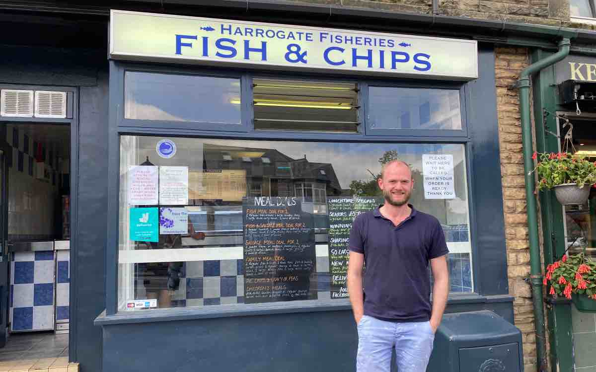 Harrogate chippy surviving despite major roadworks