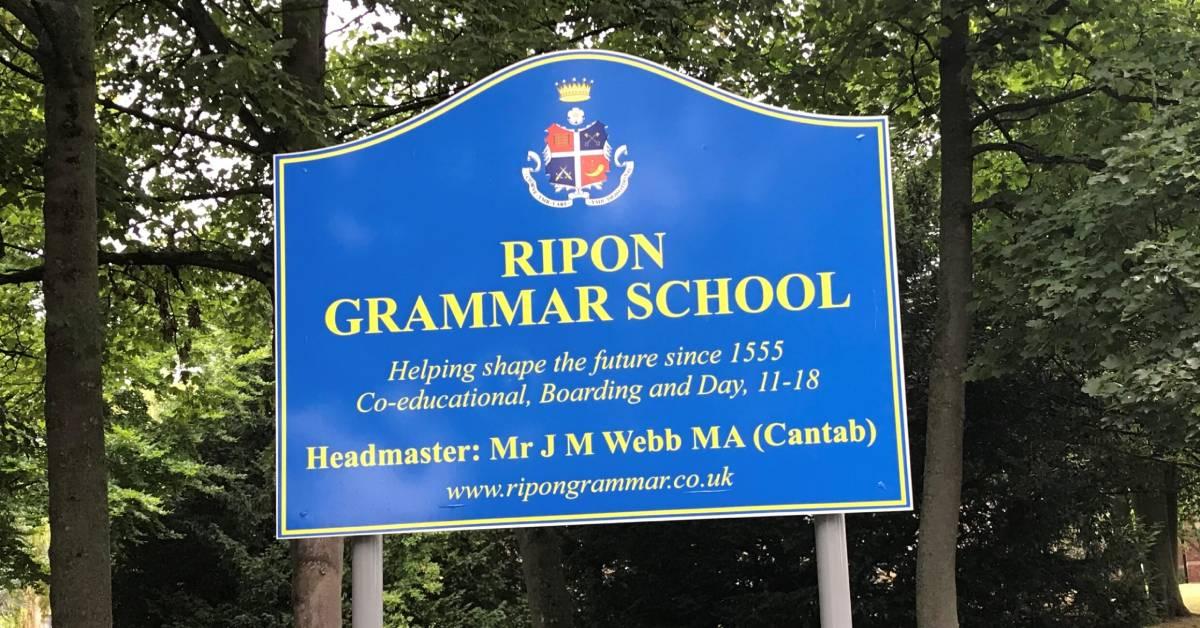 Covid case confirmed at Ripon Grammar School