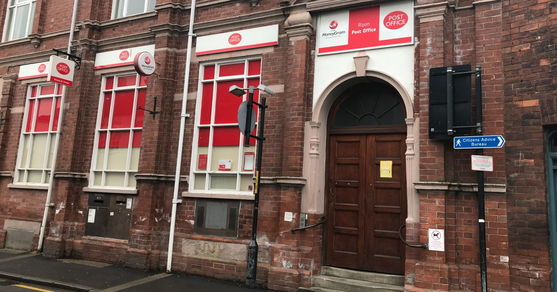 The former Ripon Post Office on Finkle Street has now closed