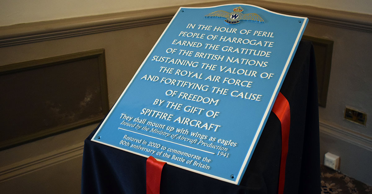 History: The story behind Harrogate's Spitfire plaque