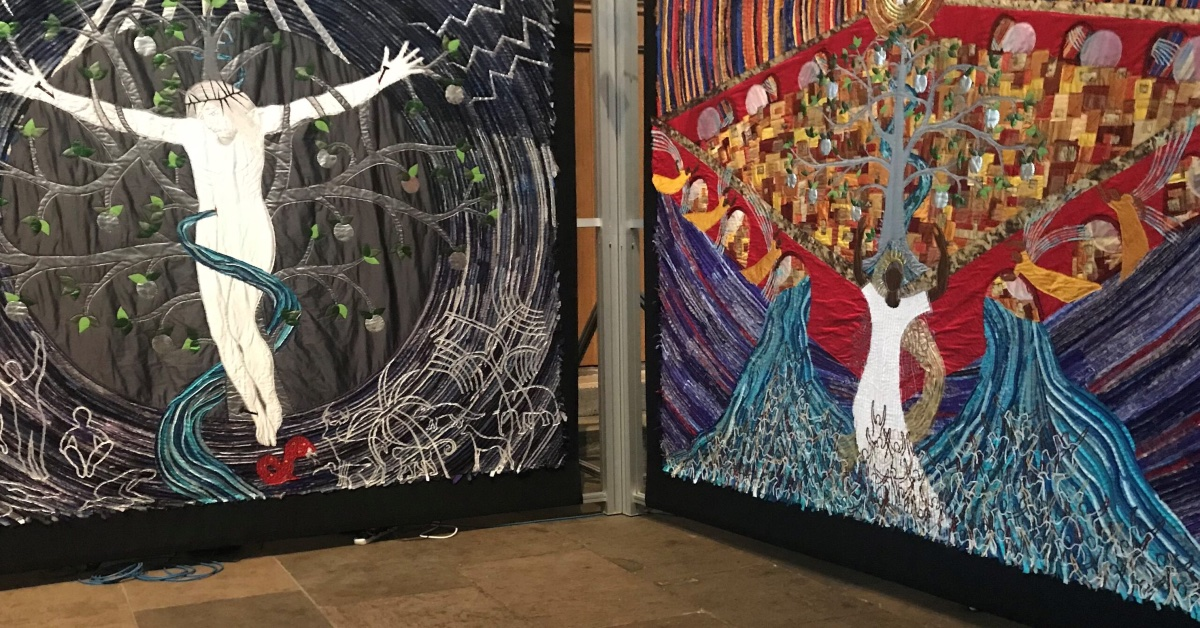 Ripon Cathedral artwork tells Bible stories in stitches