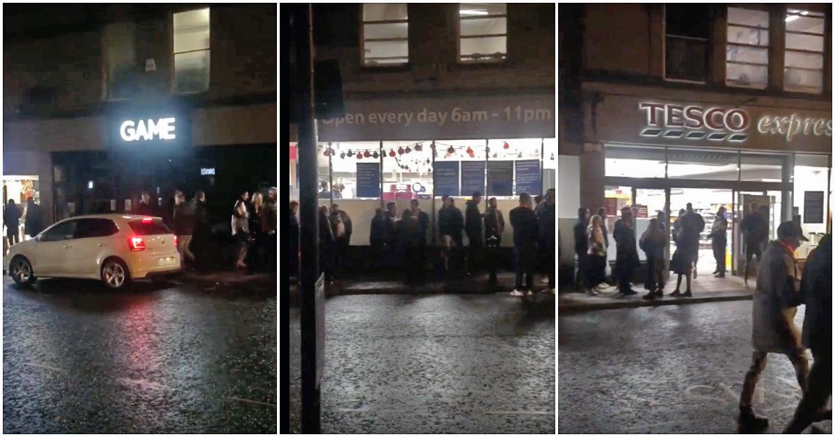 Long queues outside Harrogate shop after pubs close