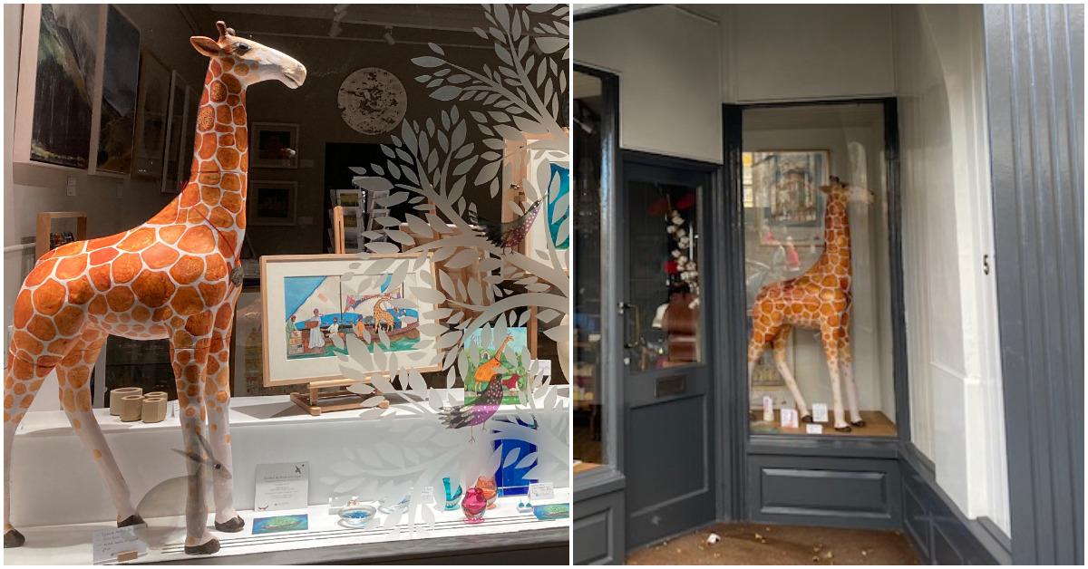 Harrogate shops raise money with 'Giraffle' for food bank
