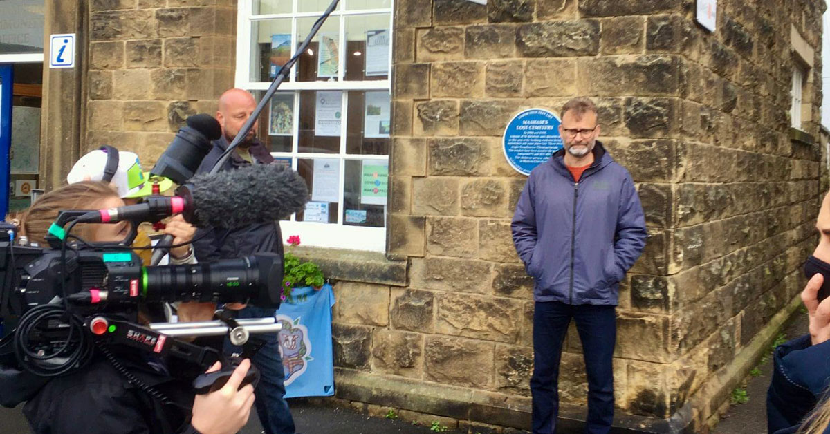 Hugh Dennis visits Masham for Channel 4 programme