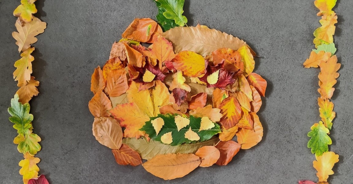 Image Gallery: Brackenfield School pupils create art with 100 leaves