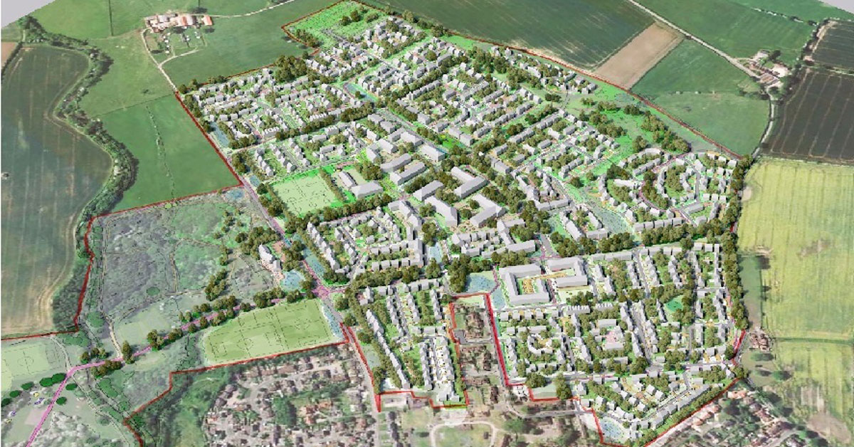 A computer generated image of the proposed Ripon Barracks site