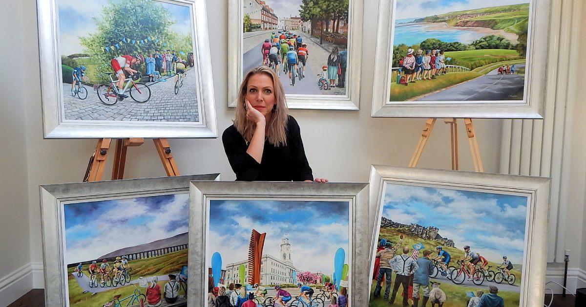 Pateley Bridge artist creates Tour de Yorkshire art