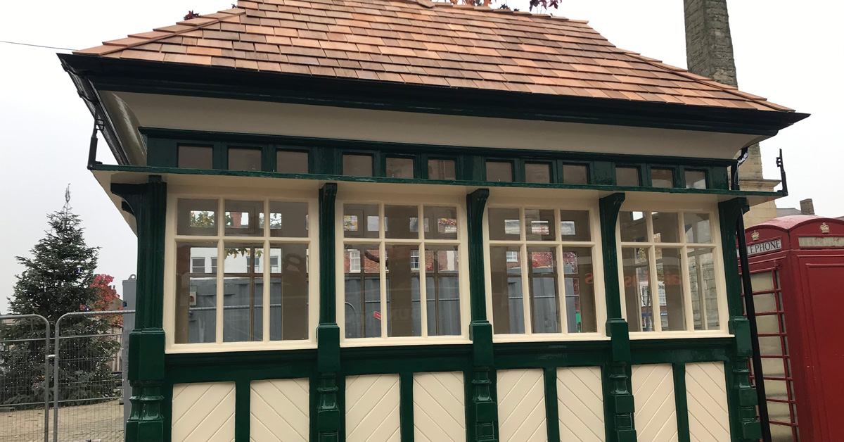 Rare cabmen's shelter returns to Ripon