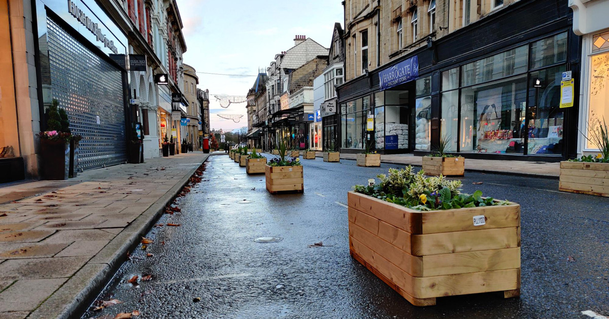 Harrogate's controversial James Street planters could go after June 21