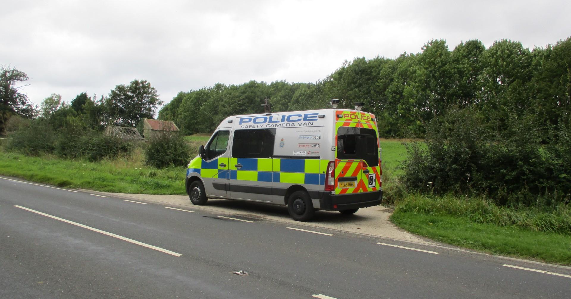 A North Yorkshire Police speed van