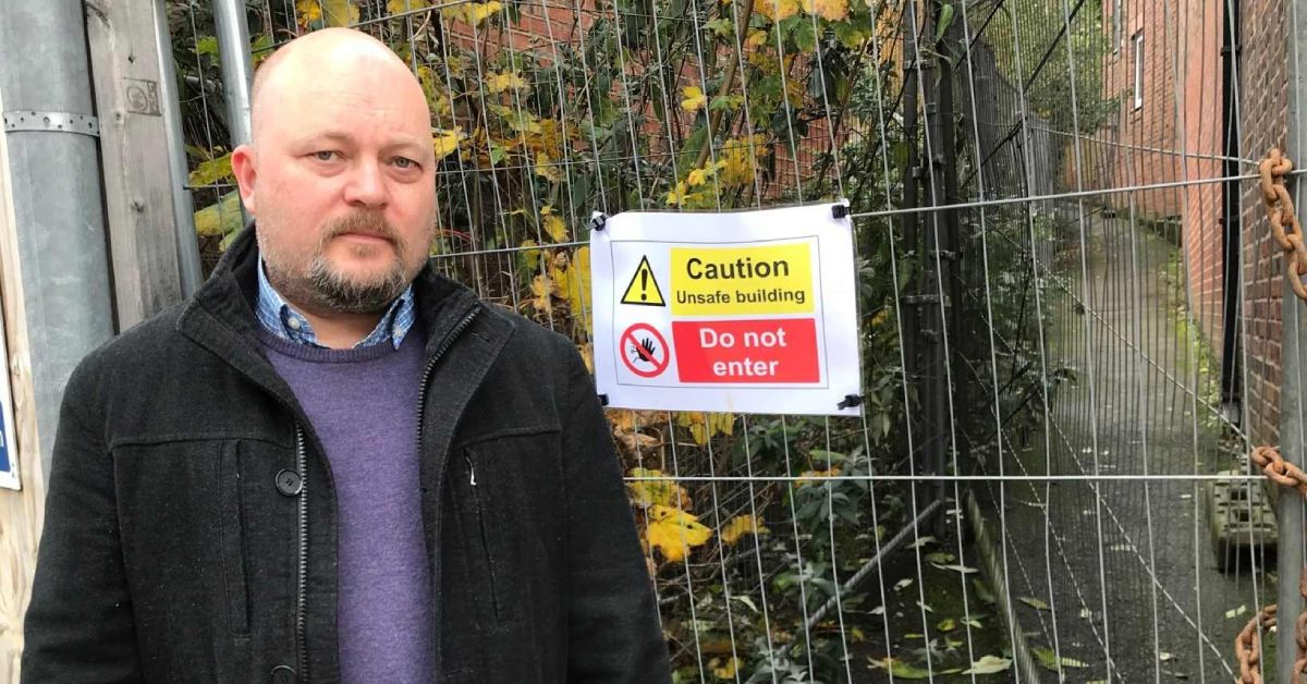 Ripon's MP supports action on unsafe building