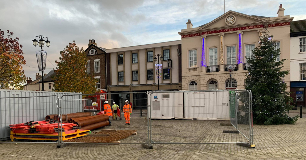 Building site hijacks Ripon Christmas display