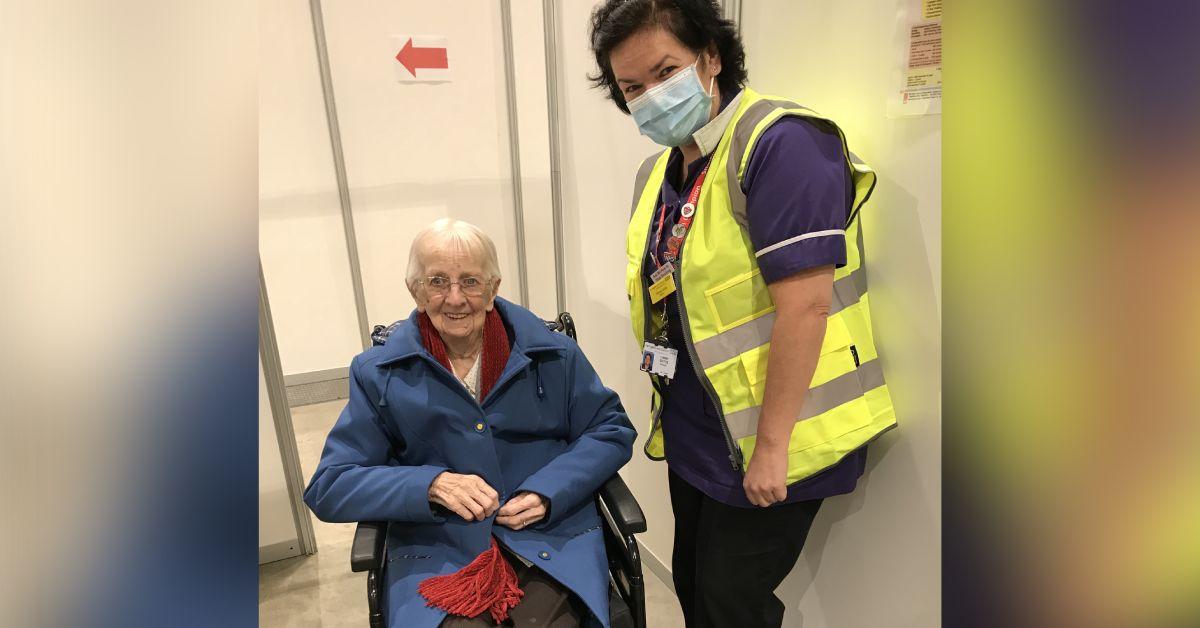 100-year-old Pateley Bridge woman receives vaccine