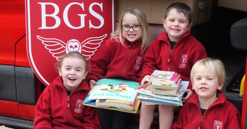 Nidderdale pupils donate books to boost children's literacy