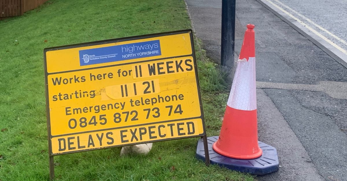 Road works in Harrogate district to continue during lockdown