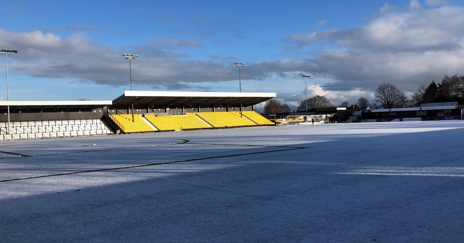Harrogate Town asks for help clearing snow ahead of tonight's game