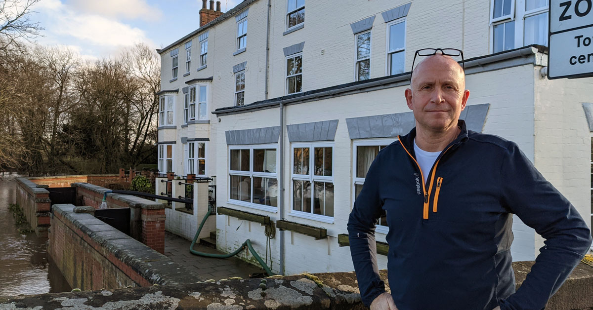 Boroughbridge care home, garage and homeowners fight floods