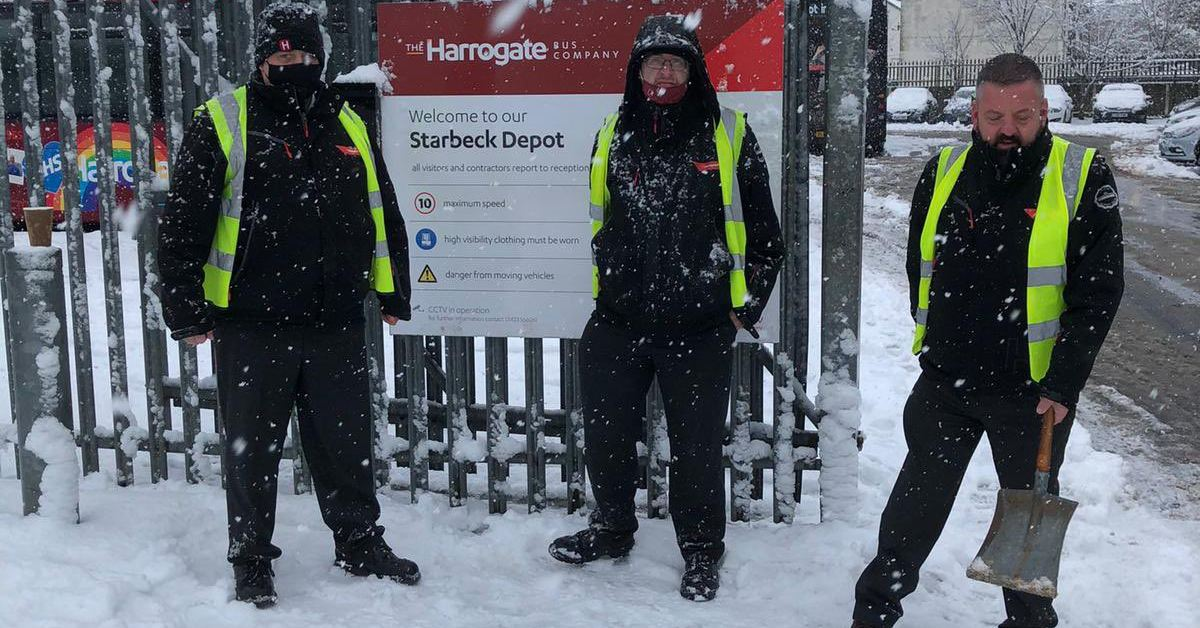 Travel problems remain in Harrogate district after freezing night