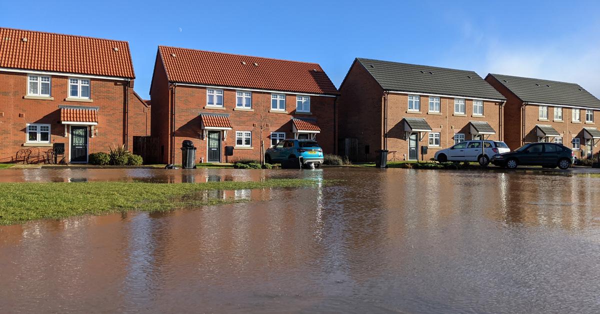 Heavy rain raises flooding fears at new Boroughbridge housing estate