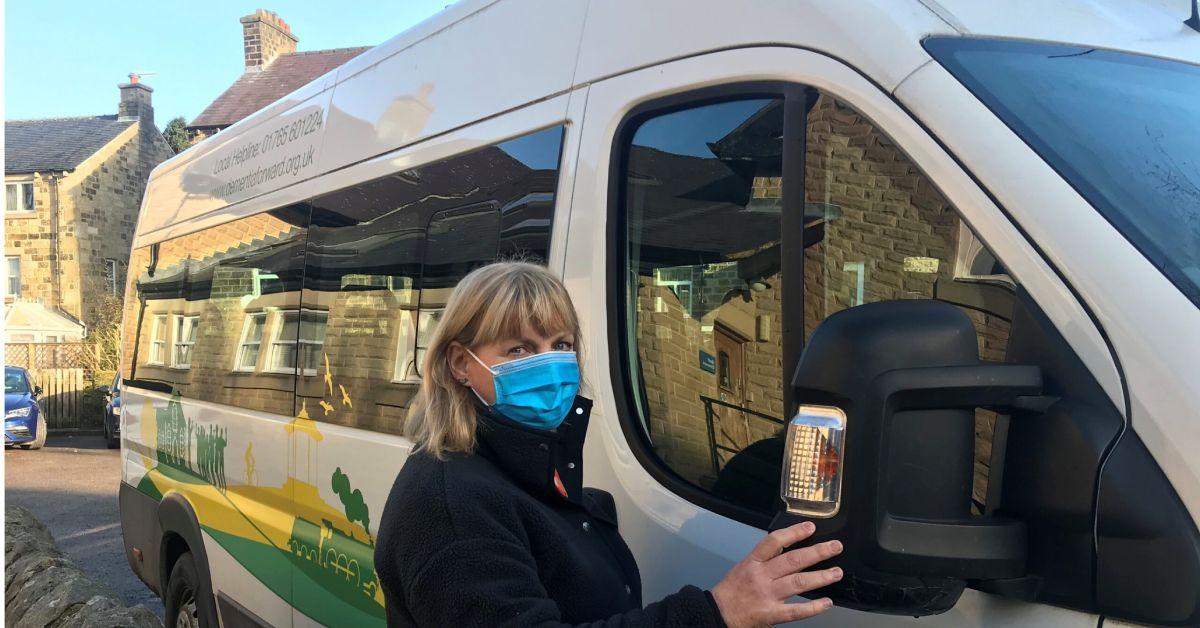 Nidderdale minibus helps rural people get vaccines at showground