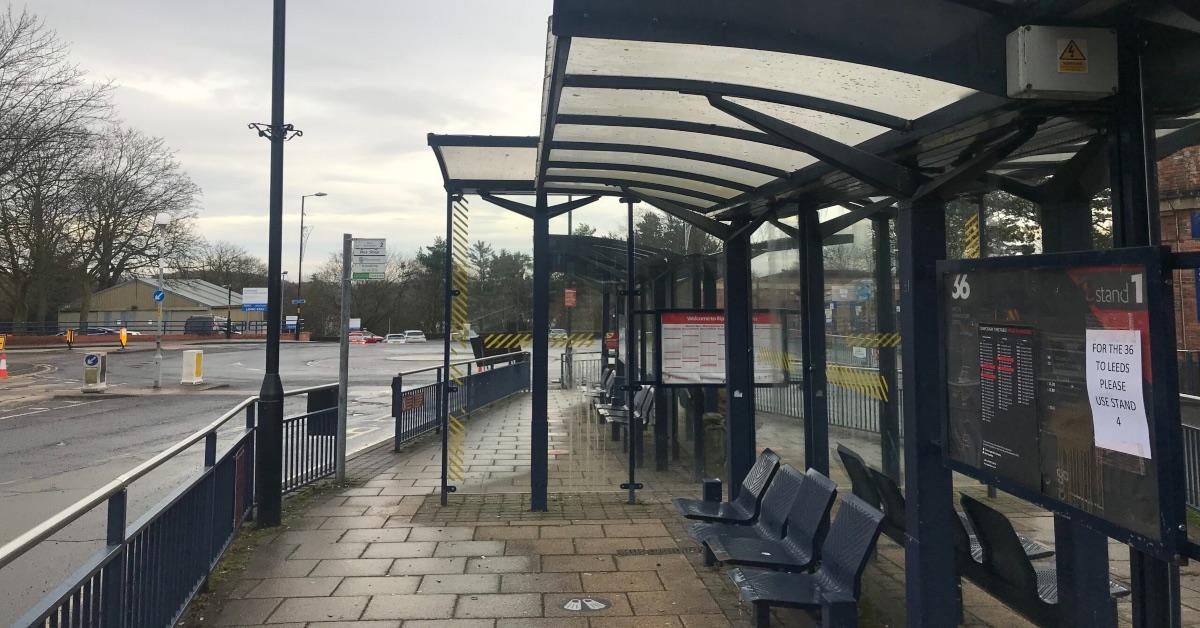 Ripon bus station.