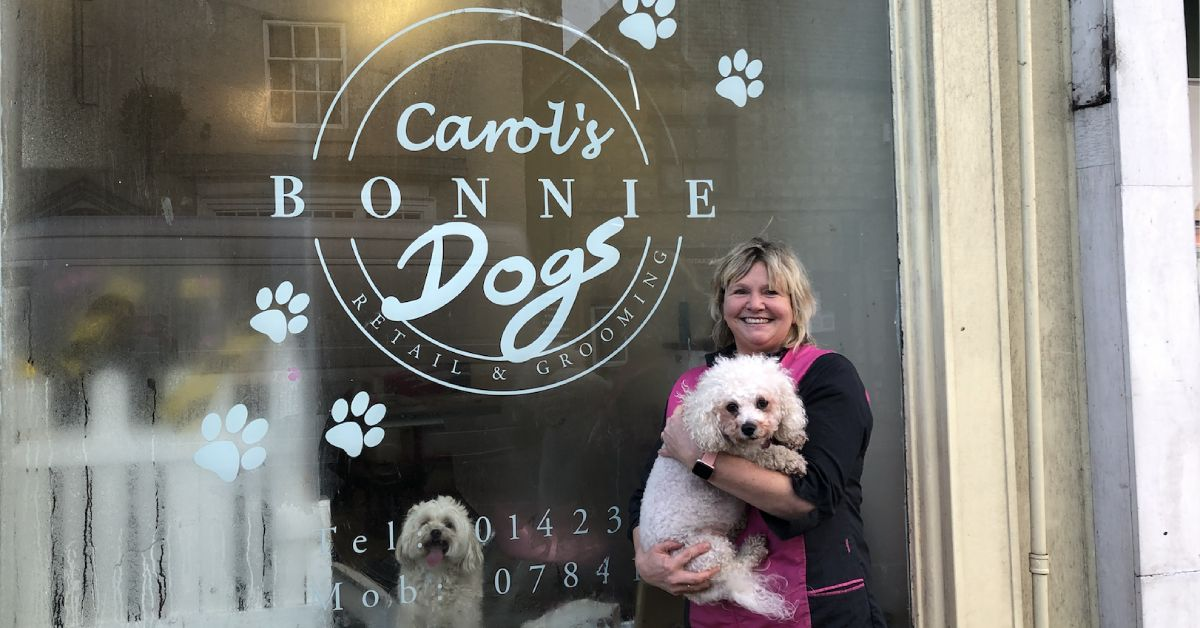 Knaresborough dog groomers finds new high street home
