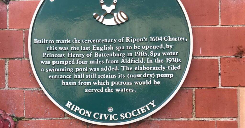 Photo of civic society plaque on Ripon Spa Baths