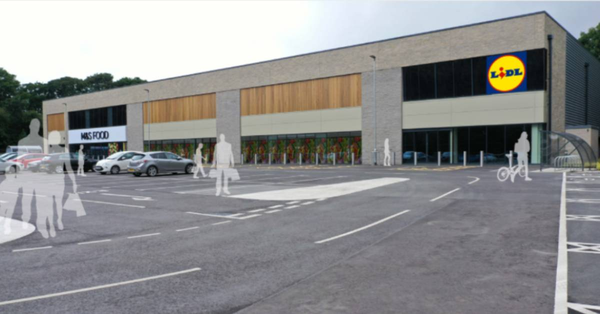 Visuals of the proposed Lidl supermarket on St Michael's Retail Park in Ripon.