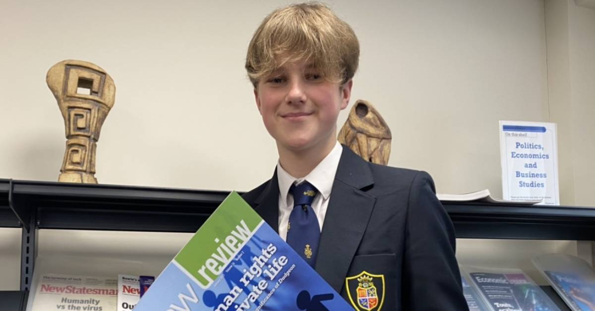 Legal prize for Ripon Grammar School student