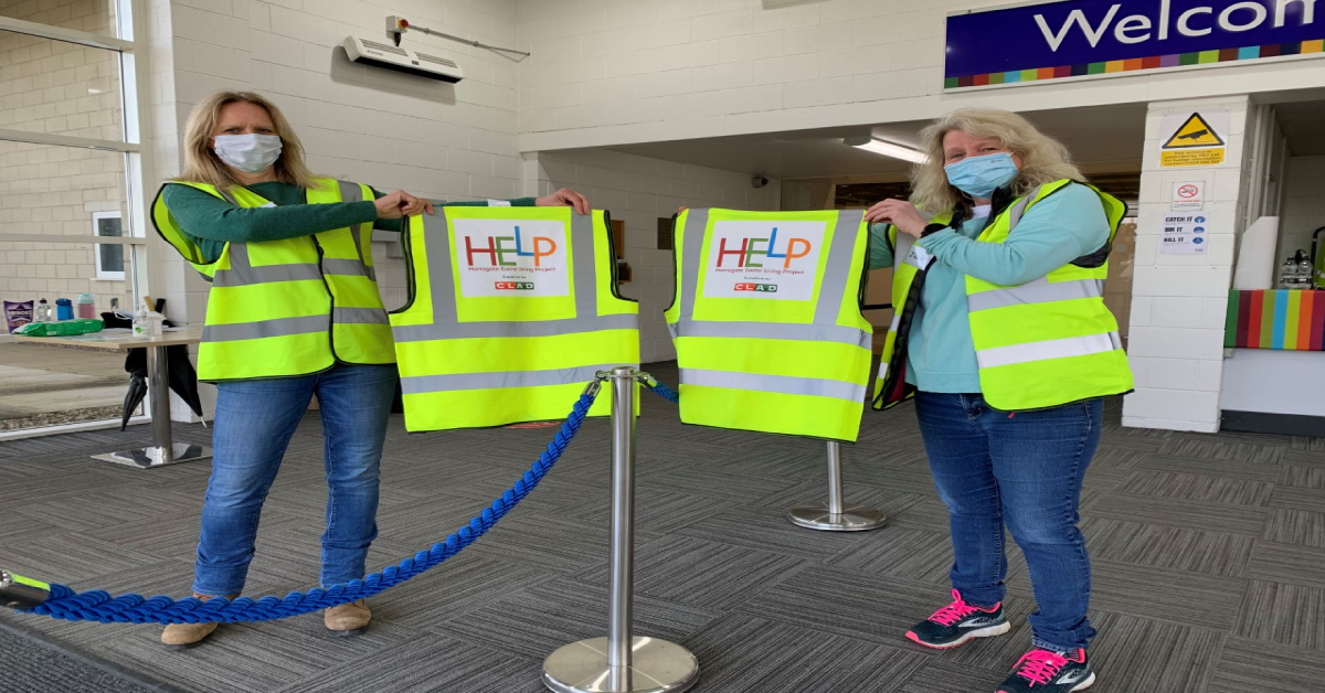 Hi-vis vests donated to volunteers at district's vaccination centres