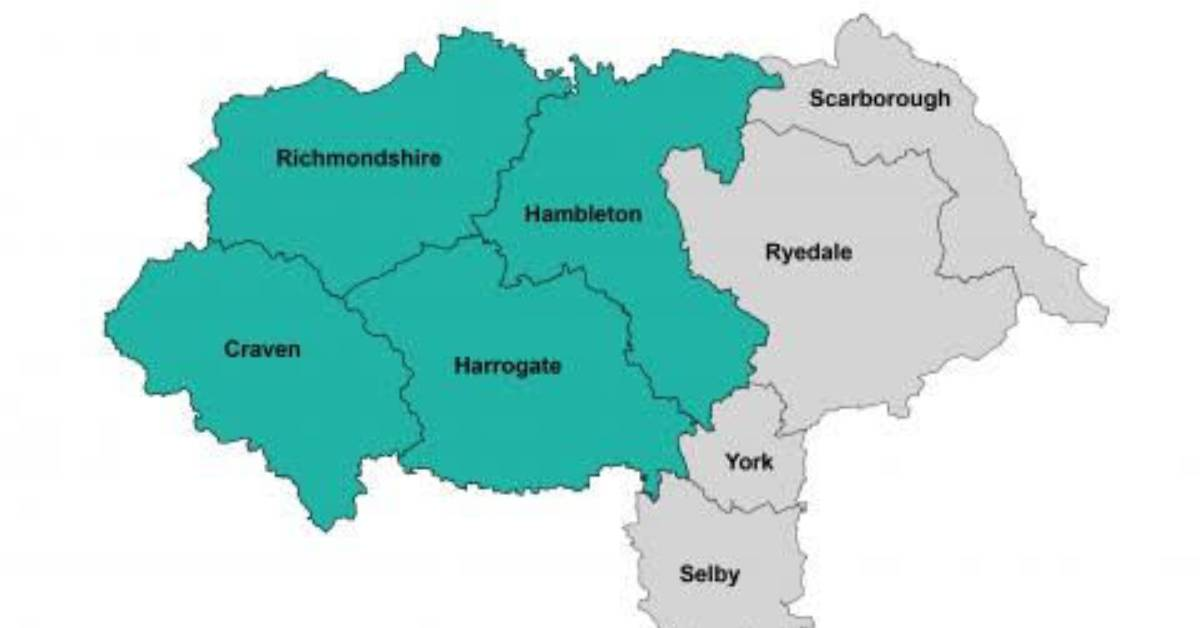 North Yorkshire council map