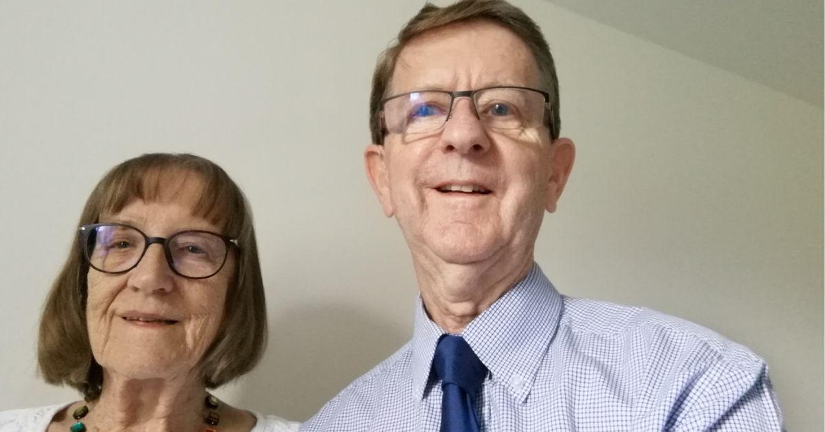 Mayor Trevor Chapman and wife Janet