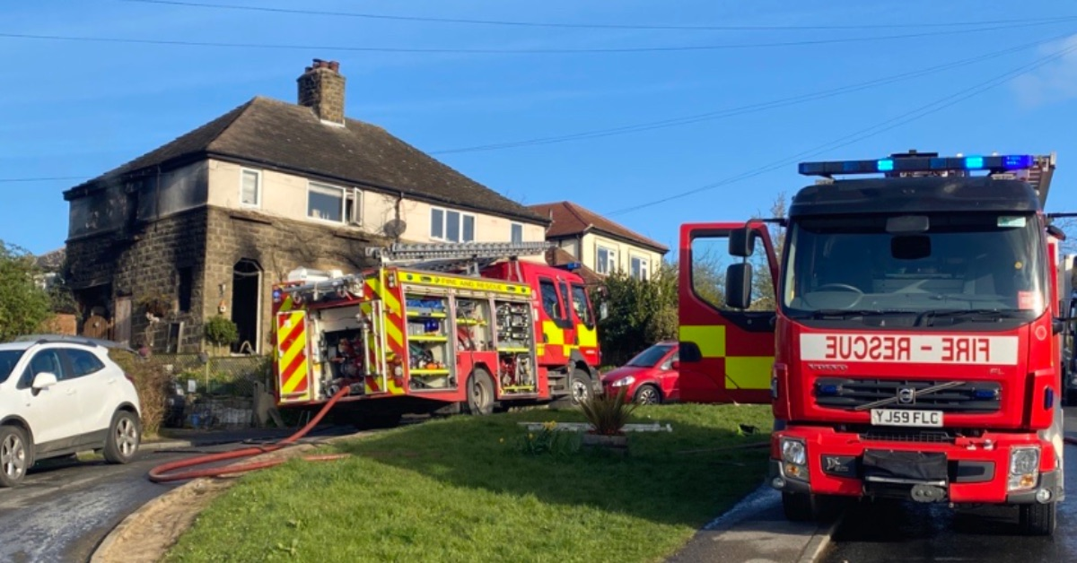 Fire crews tackle house fire in North Rigton