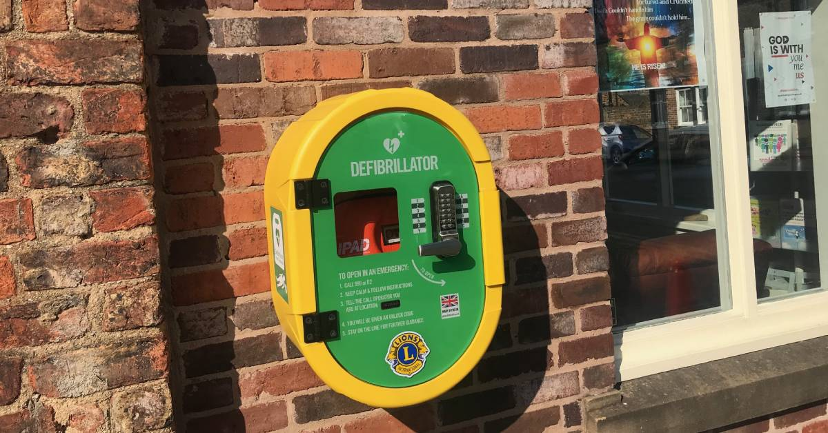 Photo of a defibrillator unit