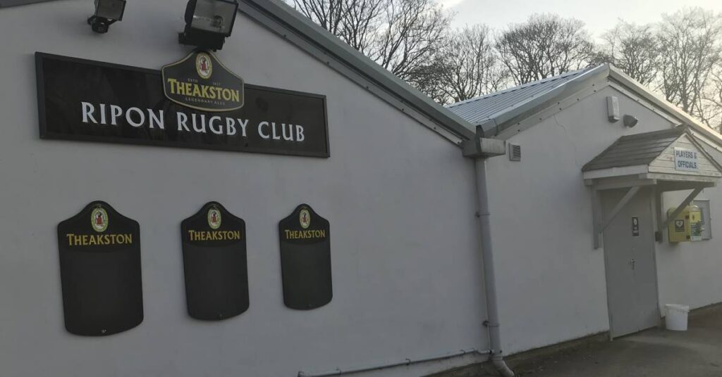 Photo of defibrillator unit at Ripon Rugby Club