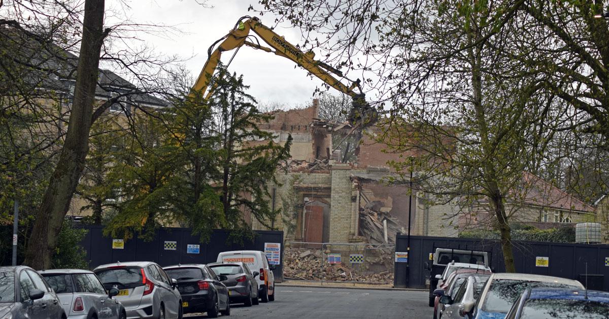 Demolition starts as former Harrogate college makes way for flats