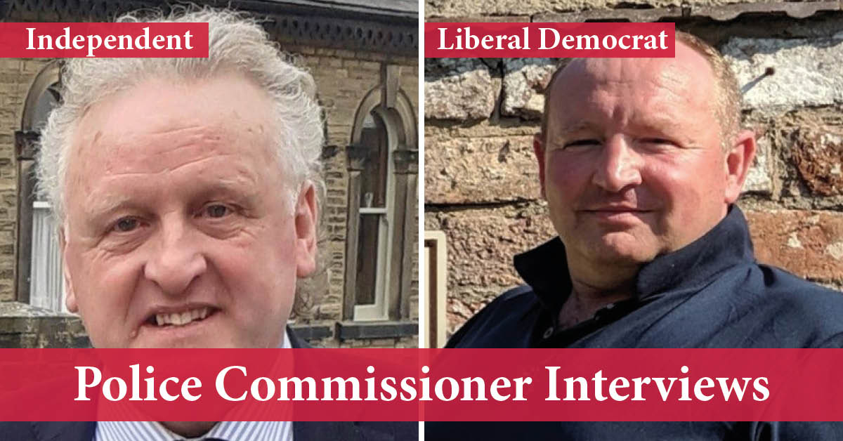 Keith Tordoff (left), Independent candidate, and James Barker (right), Liberal Democrat candidate.