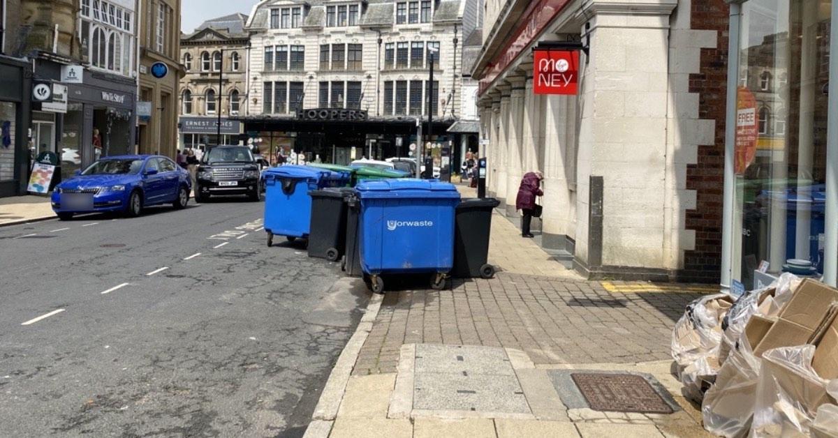 Big blue bins create 'eyesore' in Harrogate's premier shopping area