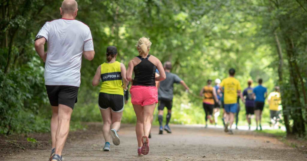 Runners on the Run Harrogate 10k course in 2019