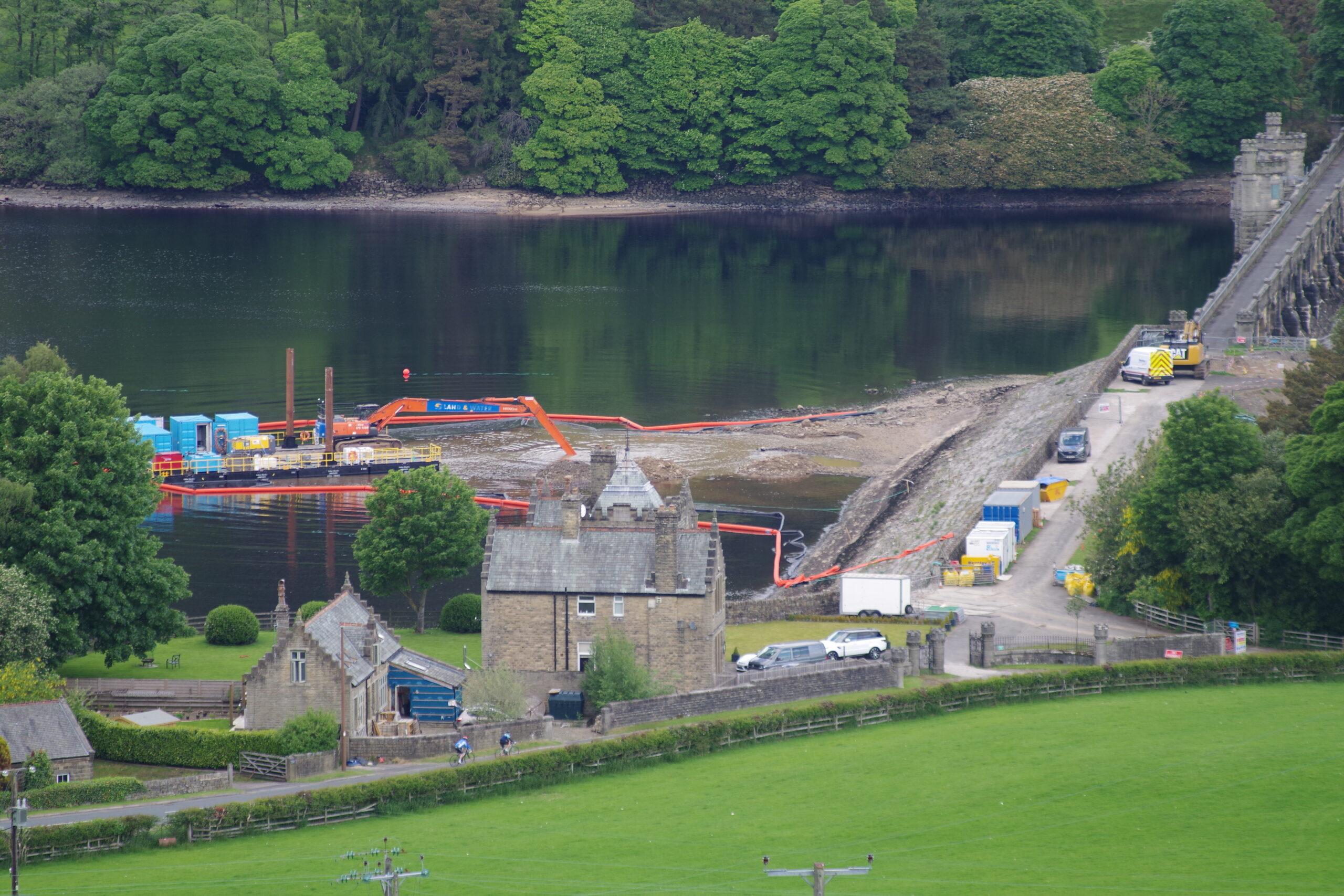The work at Gouthwaite dam