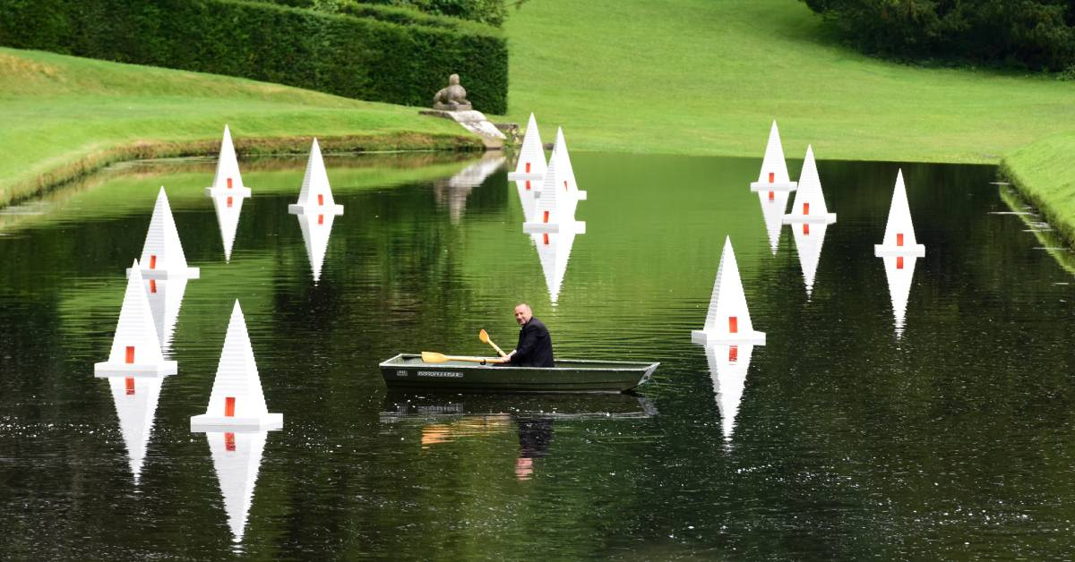 Pyramid artforms at Fountains Abbey bring echoes of the past