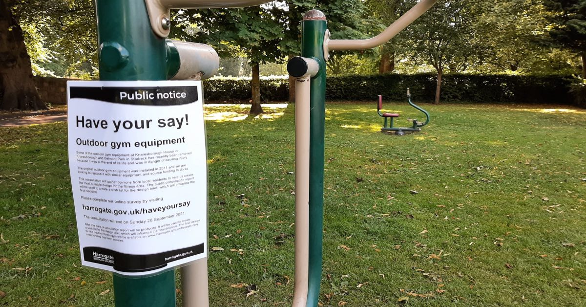 Views wanted on future of Starbeck and Knaresborough outdoor gyms