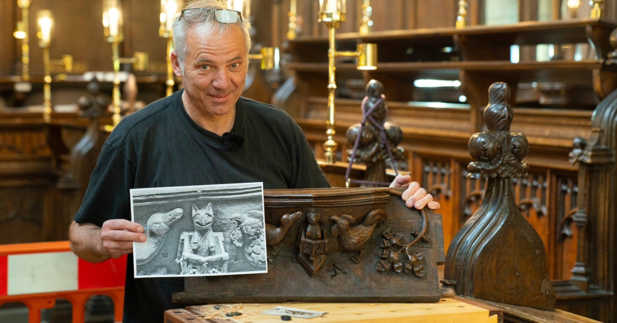 500-year-old misericord restored at Ripon Cathedral